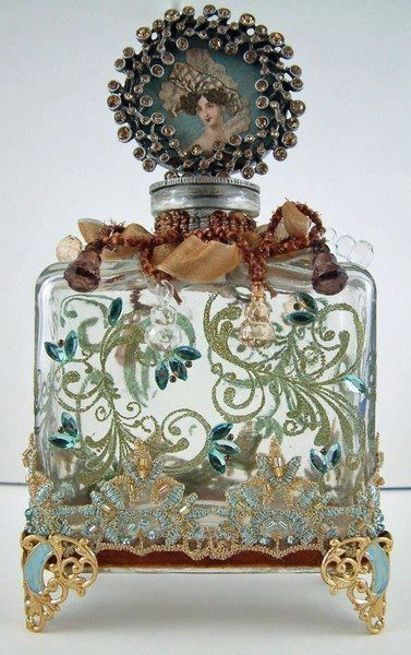 Victorian Floral Filigree Perfume Bottle