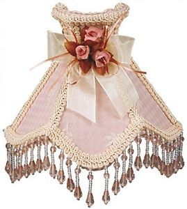 Lamp Shades Beaded Pink Victorian Night light Indoor guest Bedroom New   | eBay
