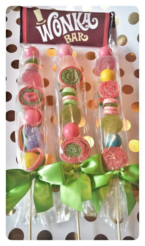 Wonka - Candyland- Wonderland Candy Party Favors Totally Whimsical 12 pieces total by JohnnyRaes on Etsy