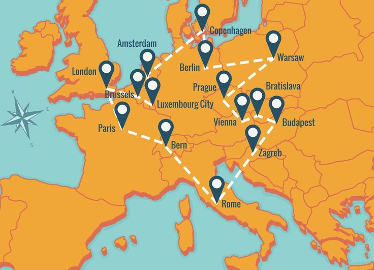 HOW TO HIT EUROPE'S GREATEST CITIES FOR UNDER $500 IN ONE TRIP    Wanderu bus route around Europe