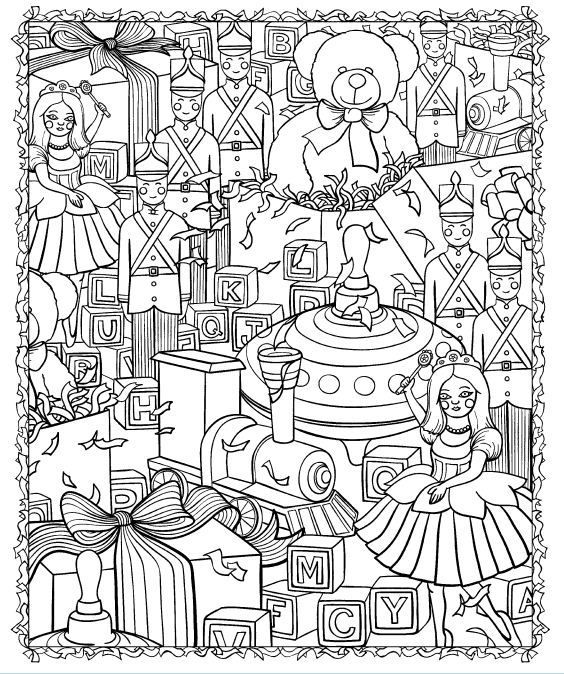 Jouets Coloriage / Coloring pages toys | Coloring Pages | Christmas ...
