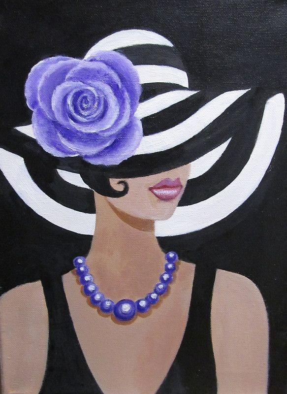 La pintura original de señora de la fantasía acrílico sobre lienzo • Buy this artwork on phone cases, home decor, stationery y more.