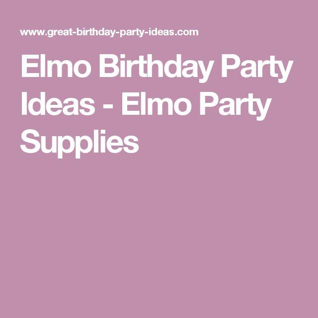 Elmo Birthday Party Ideas - Elmo Party Supplies