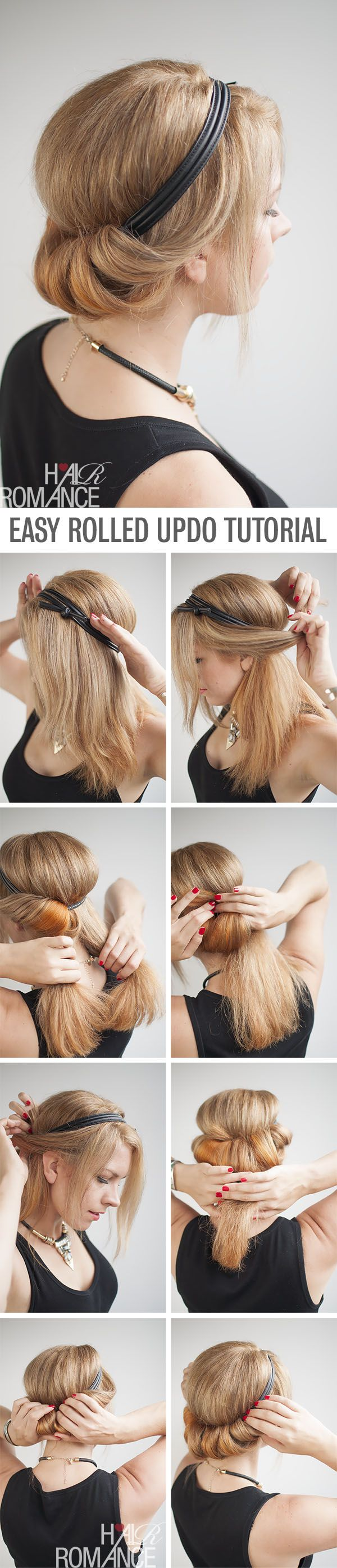 How to do a rolled updo - Hairstyle tutorial by @Tonya Seemann Seemann Seemann Potts Romance
