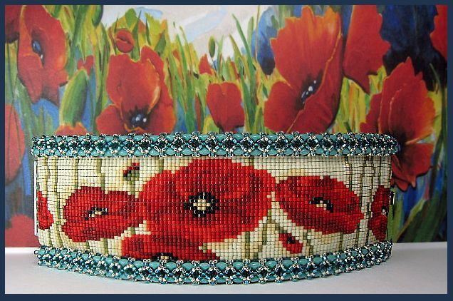 A Field of Erin's Poppies from Beads Beading Beaded