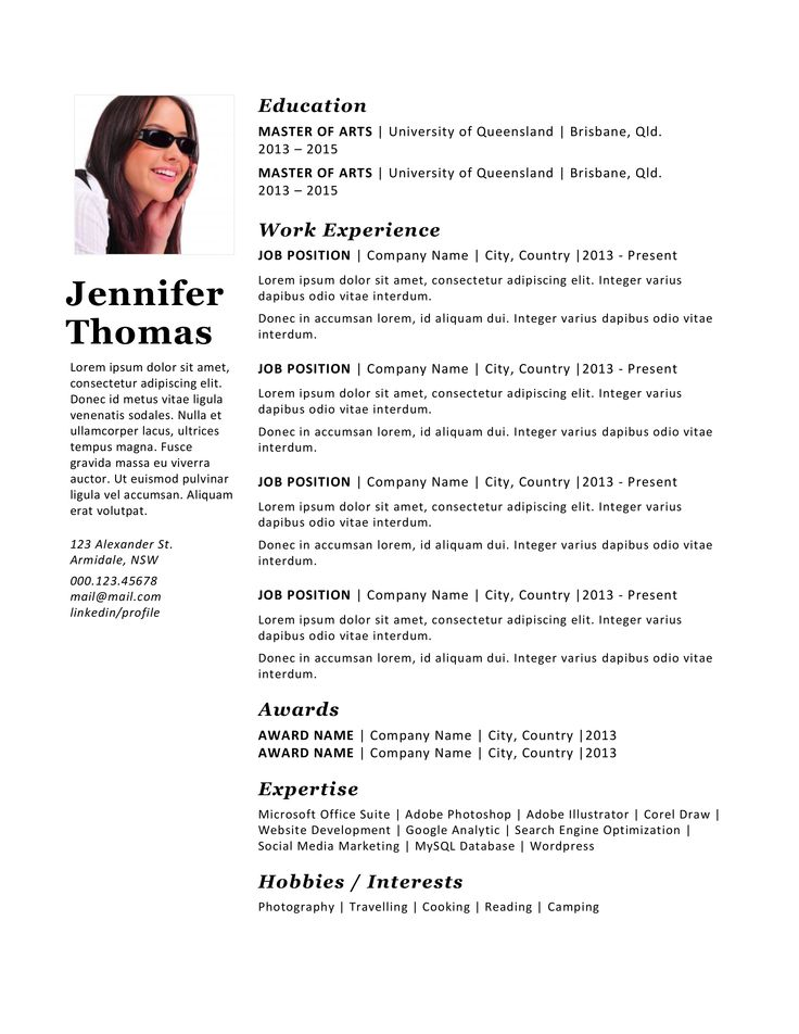 Más de 25 ideas increíbles sobre Photographer resume en Pinterest - photography resume template