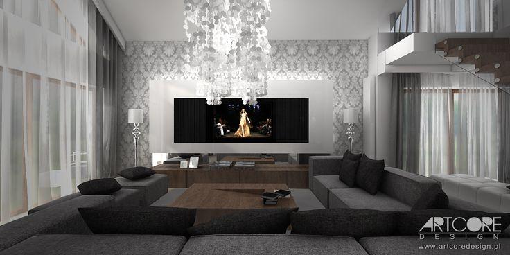 Projekt wnętrza domu pod Krakowem. Więcej na www.artcoredesign.pl .