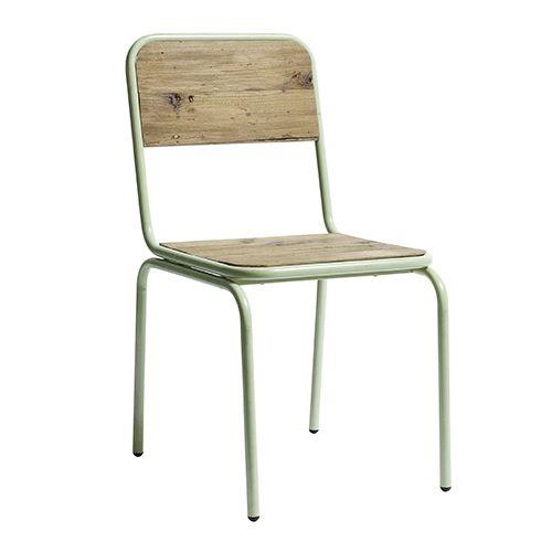 Metalen stoel 'Soho' pastel groen