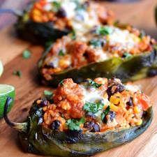 Mexican Stuffed Peppers (Chorizo-Stuffed Poblanos), R-R-R-Remix
