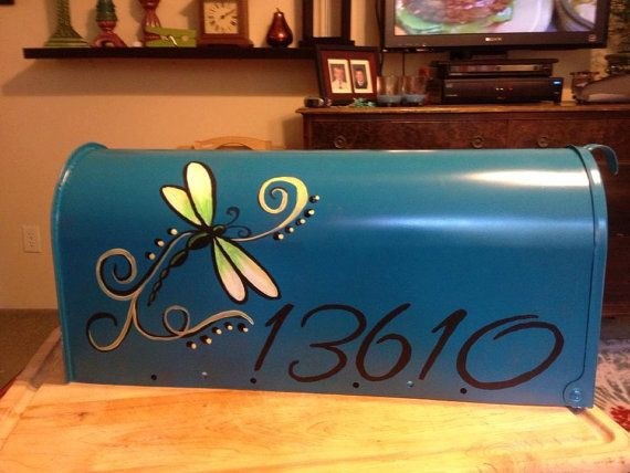 Hand Painted Mailbox Custom design you choose UV by AlabamaFlair