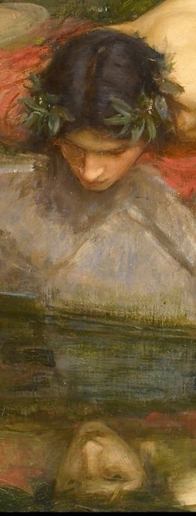 Detail from Echo and Narcissus, John William Waterhouse.