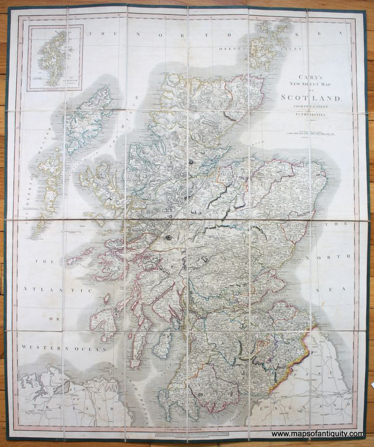 Careyu0027s New Sheet Map of Scotland From
