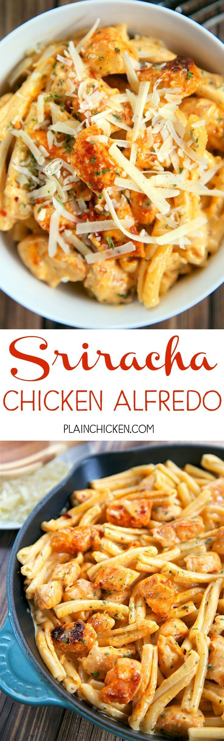 Homemade Sriracha Chicken Alfredo This Super Quick Pasta Dish Is Perfect For Those Busy Week
