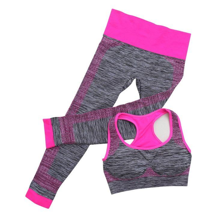 2017 vrouwen fitness workout kleding gym sport running meisjes slim leggings + tops vrouwen yoga sets beha + broek sport pak voor vrouwelijke