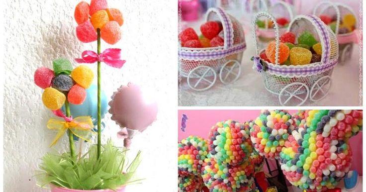 Centros de mesa hechos con dulces. ¡Te encantarán!