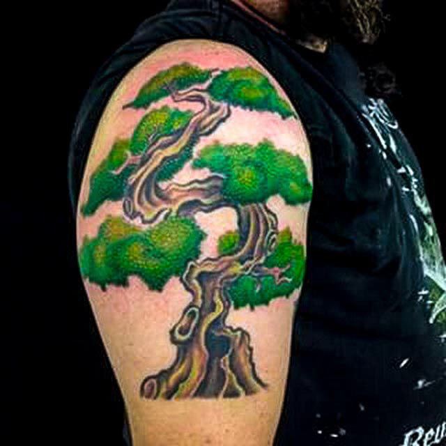 Bonsai Tattoo Meaning: 25 Best Japanese Bonsai Tree With Sun Tattoo Images On