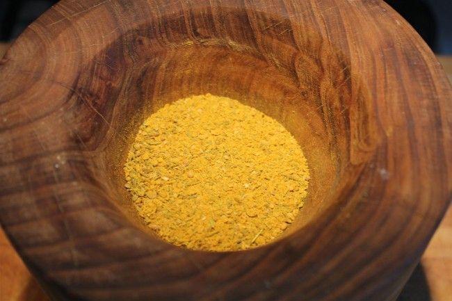 Curry por mozsárban