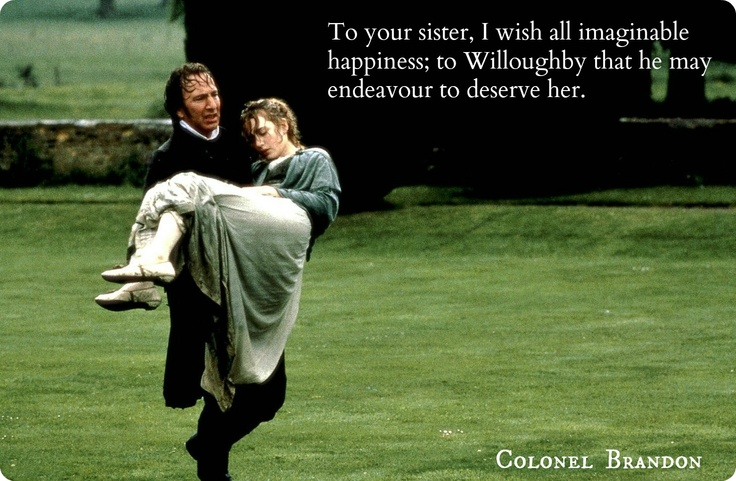 Alan Rickman Movie Quotes: Colonel Brandon. The Best And Most Swoon-worthy Austen