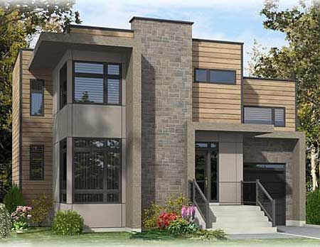 31 Best Images About House Plans Narrow Lot With View On