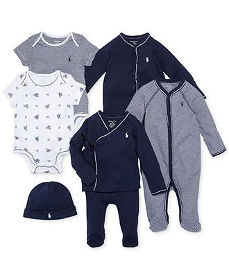 Ralph Lauren Baby Boys' Nestled In Navy Gift Bundle - Kids Newborn Shop - Macy's