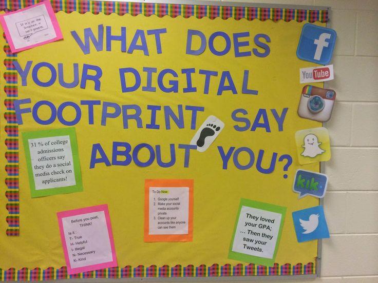 """Busy Bee School Counseling: """"Digital Footprint"""" Bulletin Board: High School Co..."""