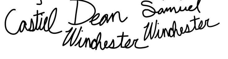 Castiel Dean Winchester Samuel Winchester