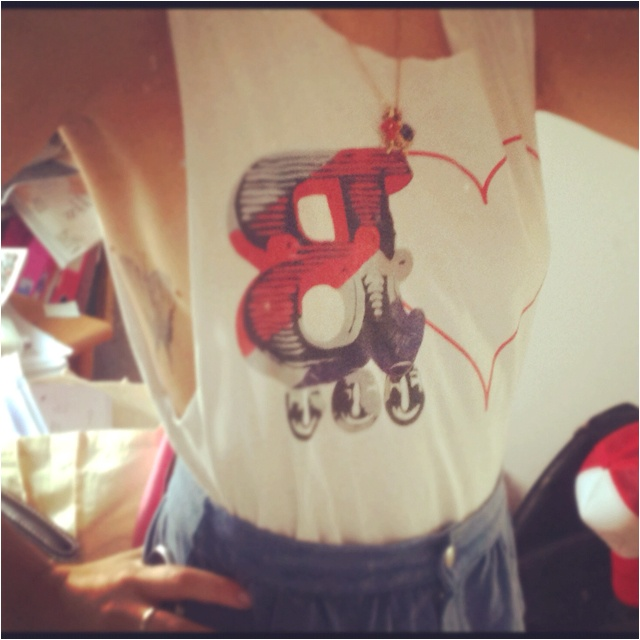Representing for Love Brunch today in the sunshine! Tattoo + vest + denim!