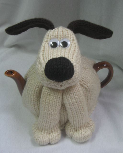 Dog Tea Cosy - KNITTING PATTERN -  pdf file by automatic download - it's Grommet!