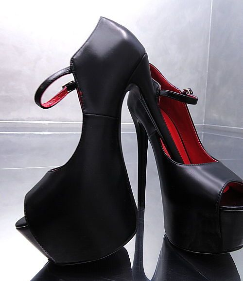 PUMPS SCHWARZ ROT HOHE PLATEAU NEU 2018 Elegant Damen N78 Schuhe SEXY HIGH HEELS