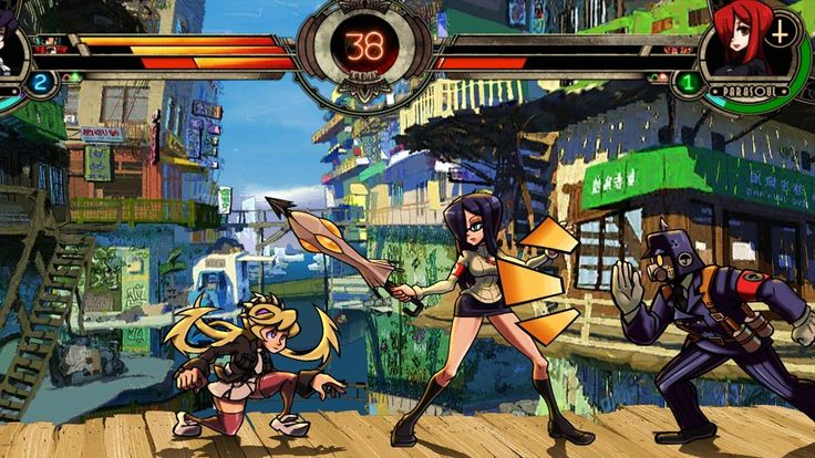 SkullGirls ios android gameplay - new cool mobile fighting game