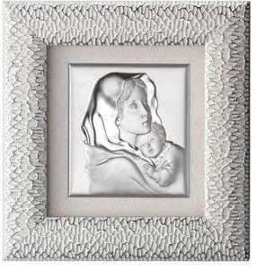 Obraz w ramie Matka Boska - Prezent na ślub, srebro