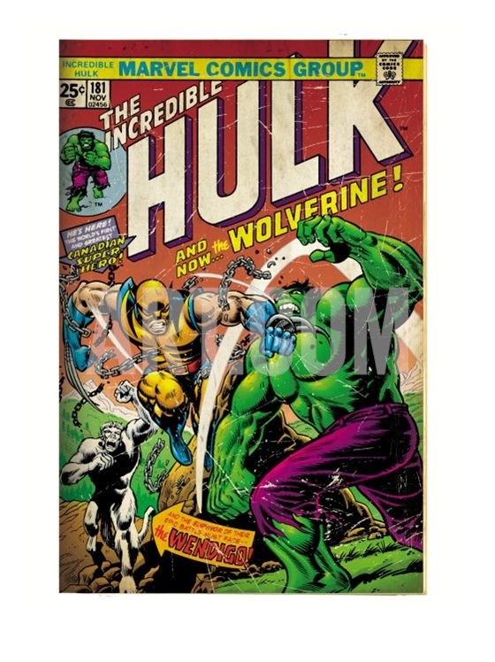 Wolverine First Appearance Comic Book Art Print