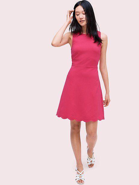 c620573a23be Kate Spade Scallop Back Ponte Dress