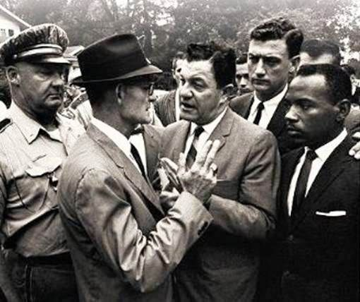 Blockade at Ole Miss 1962. Deputy Marshals enforce the court-ordered registration of James Meredith.