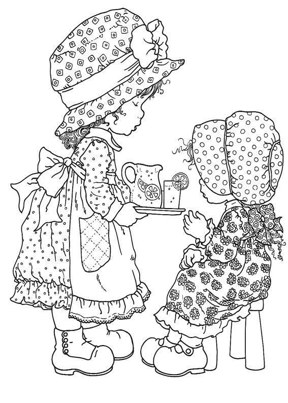 cute coloring pages:-) this is the old holly hobby my girls like when they were small