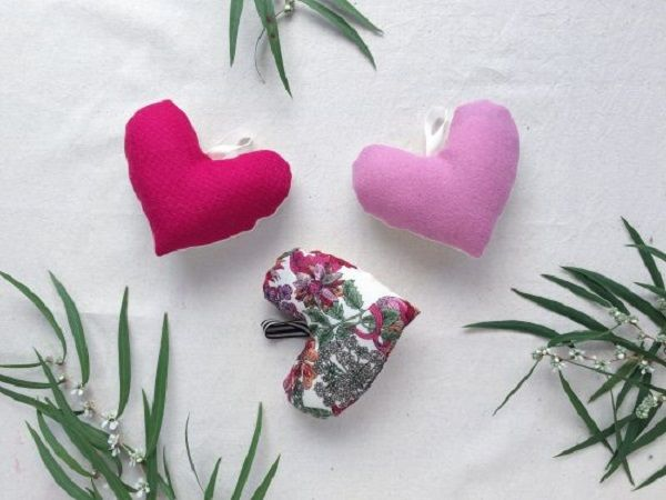 Fabric Lavender Hearts Tutorial   Nicola Goring