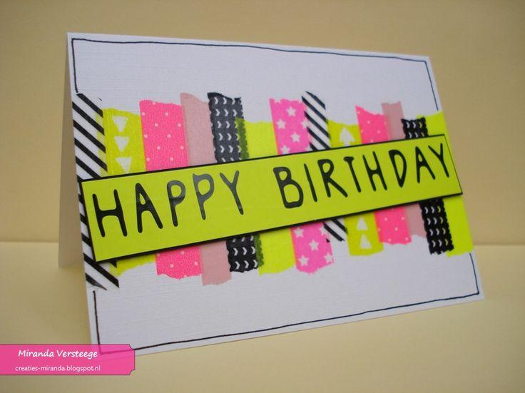 Miranda's Creaties - Sticky Sunday #25: Heel veel neon washitape