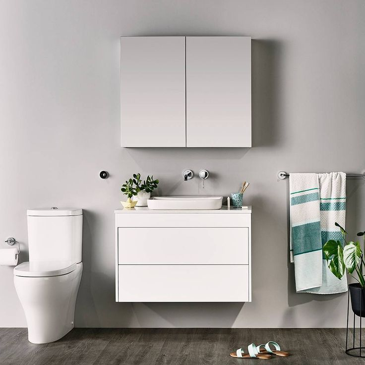 Consider mirror cabinets for extra storage in a sleek and compact solution!