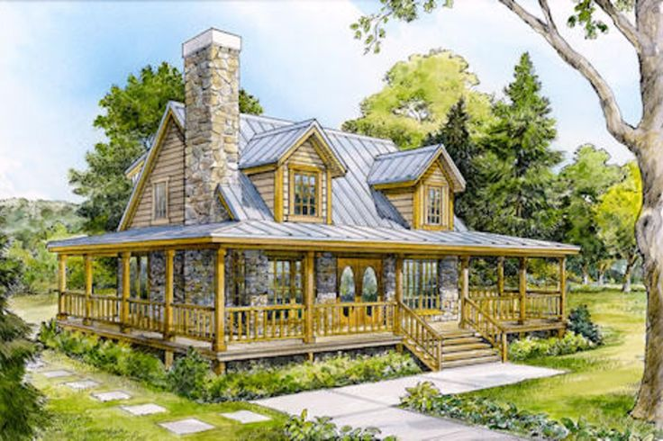 Houseplans.com Plan #140-121 Front Elevation For daddy!!!