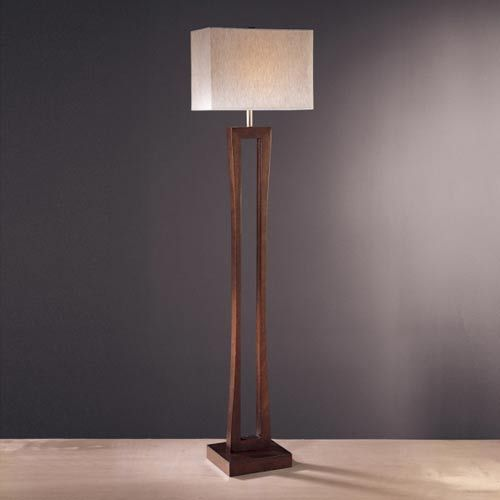 Metropolitan Cherry Floor Lamp Ambience Shaded Floor Lamps Lamps