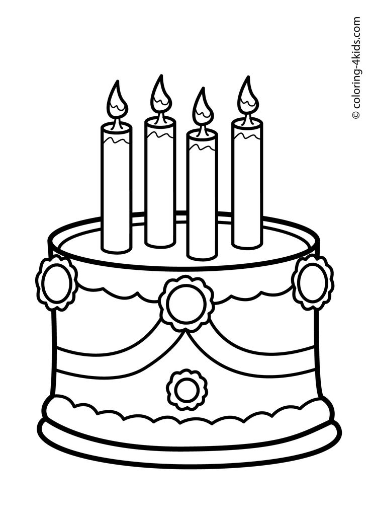 20 best Birthday coloring pages images on Pinterest