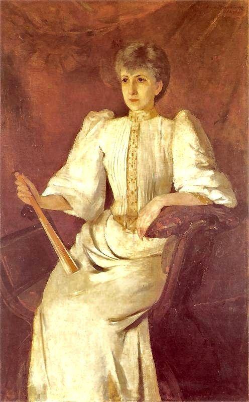 """""""Potret kobiety"""" by Olga Boznanska (1896)"""