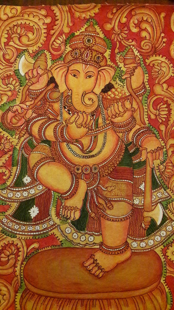 496 best images about mural paintings on pinterest for Mural art of ganesha