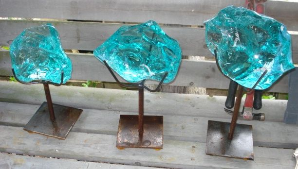 Polished Glass On Stand | Recycling the Past - Architectural Salvage