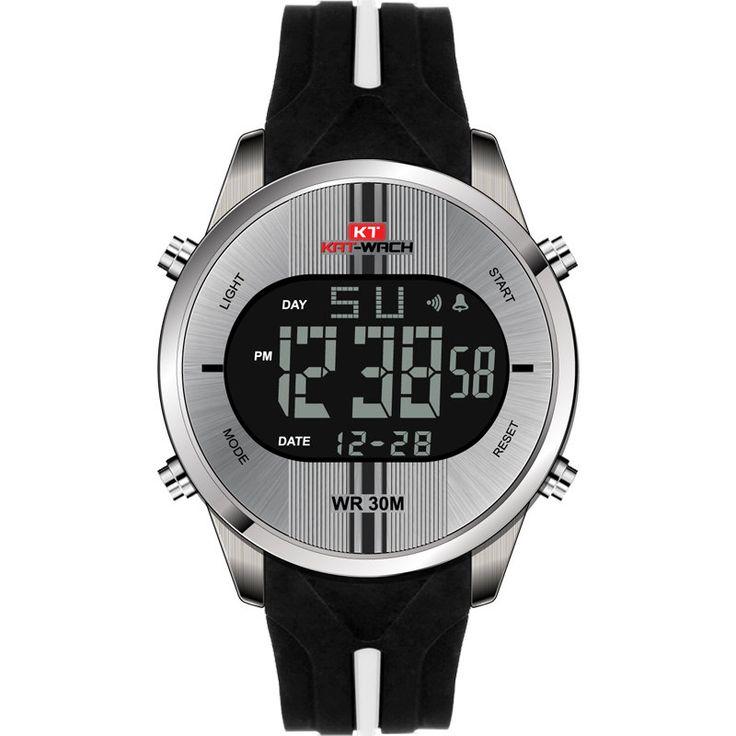 Fashion Men's Waterproof Silicone Strap Sports Watches Alarm Chronograph Wristwatch Military Clock online - NewChic