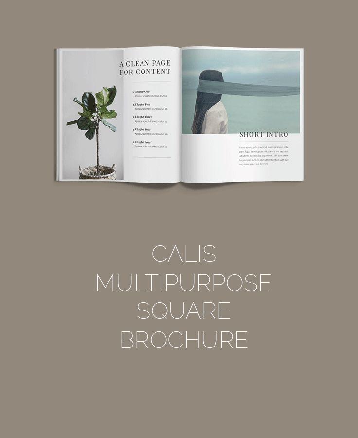 Brochure Magazine Template on CreativeMarket A4