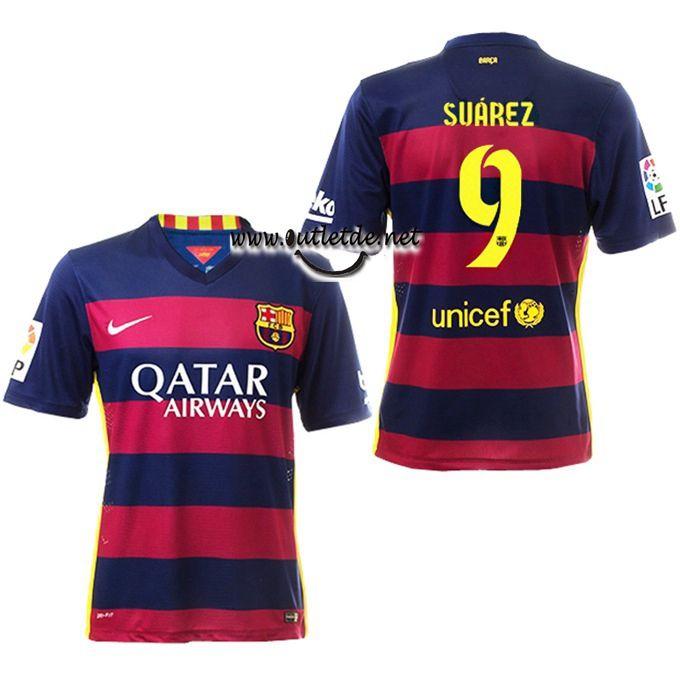 Maillot Barcelone 2016 Suarez domicile fiable