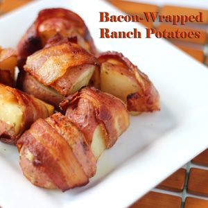 bacon wrapped ranch potatoes: Bacon Wraps Ranch, Bacon Wrapped, Bacon Wraps Potatoes, Bbbbbacon Wraps, Bacon Ranch Potatoes, Bacon Yum, Bacon Bacon, Ranch Potatoes What, Bacon Ovens
