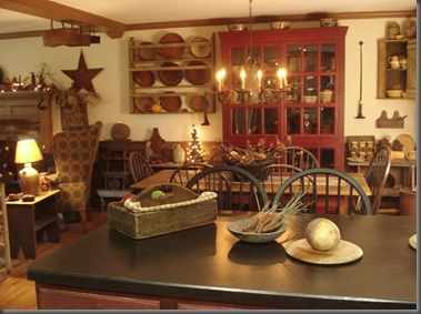 I Usually Dont Like Primitive Decor But This Looks Cozy Prim Country Kitchen Dining Room