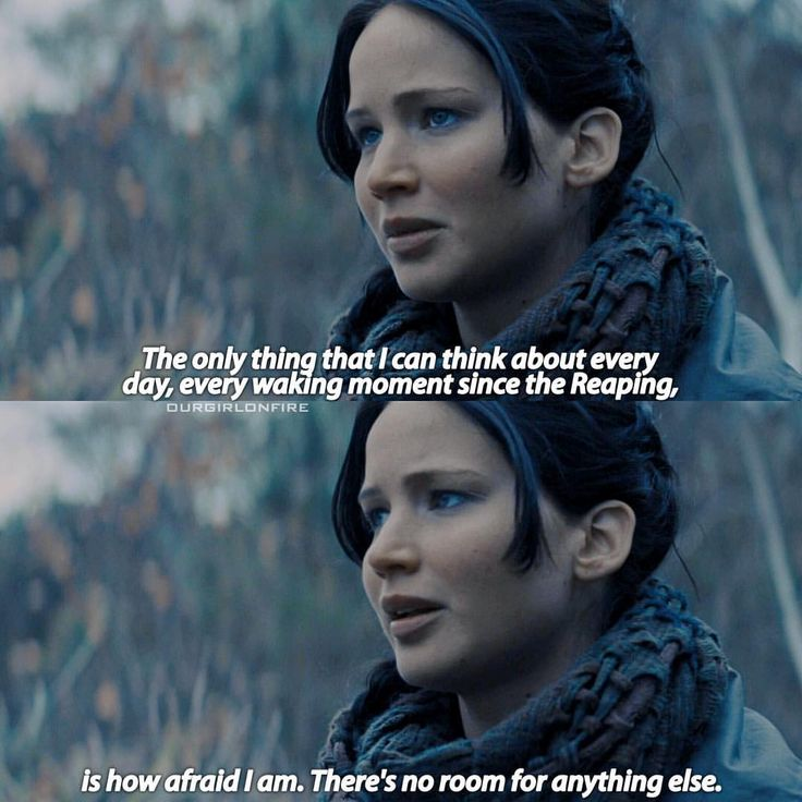- You gotta feel for Katniss here, think of how much was on her shoulders, she's not even an adult she's just a teenager